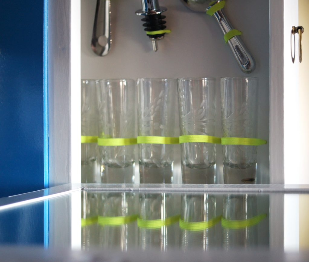 Bar side drawer