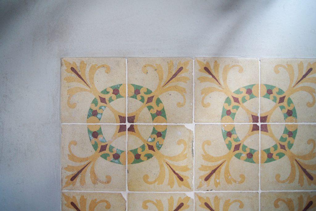Detail of restored flooring