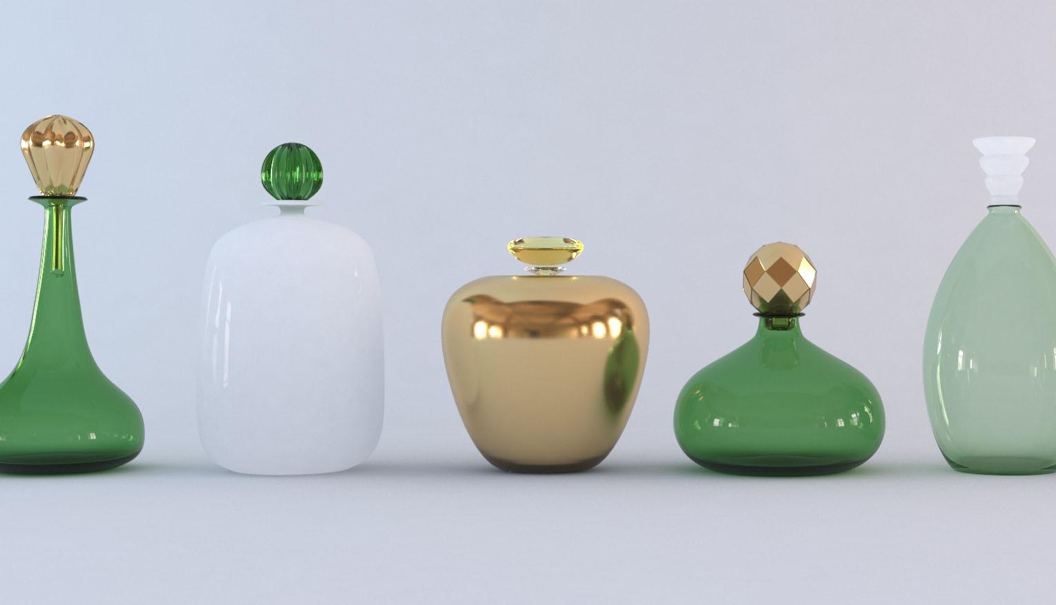 Some glass bottles